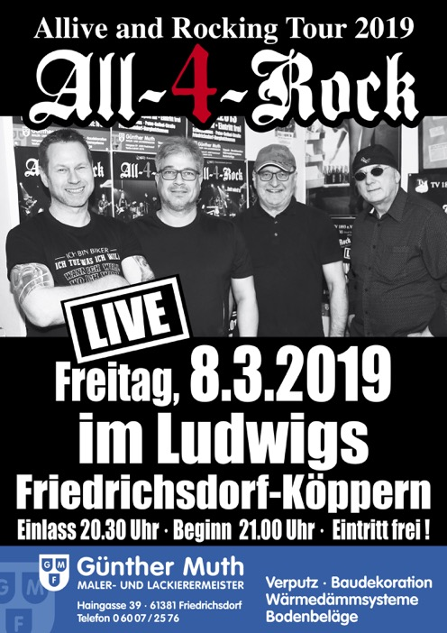 All-4-Rock Plakat Ludwigs